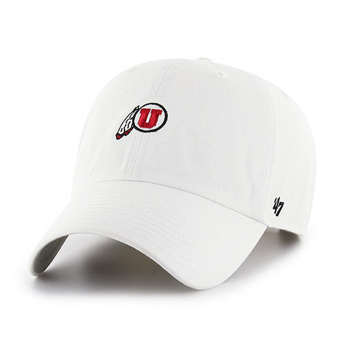 Image For 47 Brand Adjustable Mini Athletic Logo White Hat