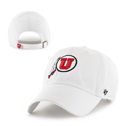 Image For 47 Brand Athletic Logo White Adjustable Hat