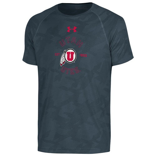 Image For Under Armour Utah Utes Athletic Logo T-Shirt