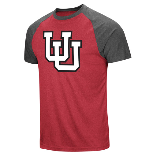 Image For Utah Utes Interlocking U Red and Gray Colosseum T-shirt