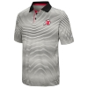 Image for Utah Utes Athletic Logo Colosseum Striped Polo Shirt