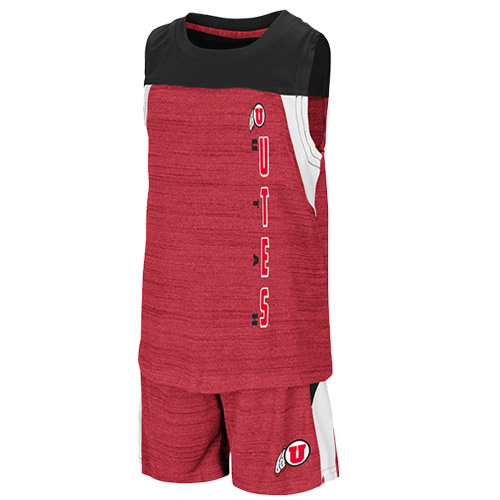 Image For Colosseum Utah Utes Toddler's Basketball Set