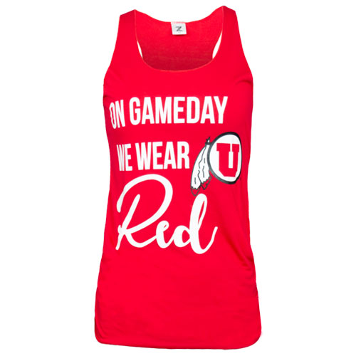 Image For Utah Utes Athletic Logo We Wear Red Tank Top