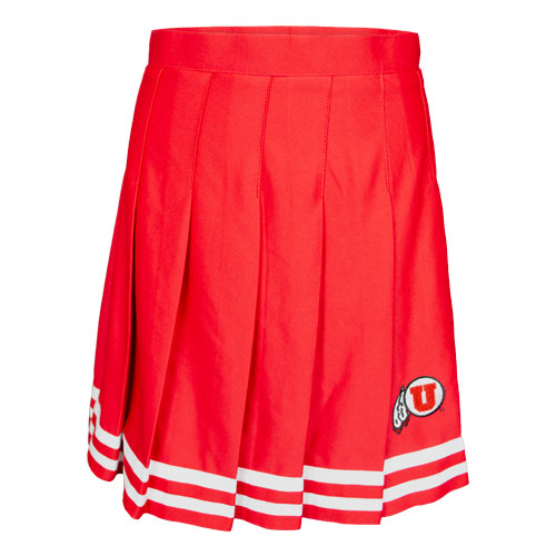 Image For Utah Utes Athletic Logo Pleated Cheer Skirt