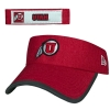 Image for Athletic Logo Heather Red Adjustable Visor
