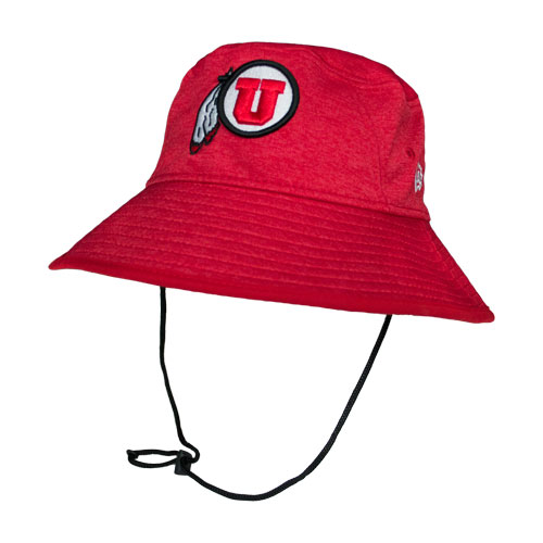 10e85c77563 Image For Athletic Logo Heather Red Bucket Hat