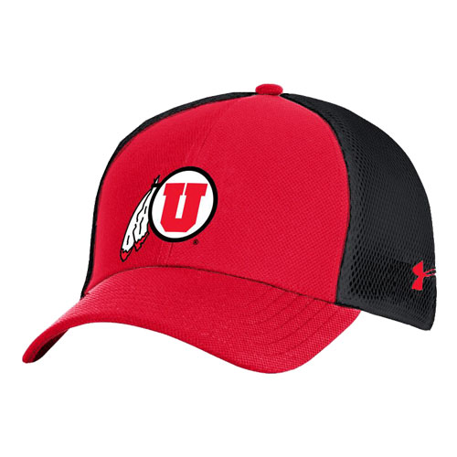 Image For Utah Utes Under Armour Mesh Adjustable Hat