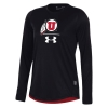 Image for Under Armour Sideline Athletic Logo Womens Long Sleeve