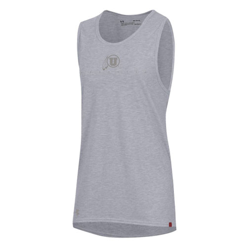 Image For Under Armour Sideline Women's Grey on Grey Tank Top
