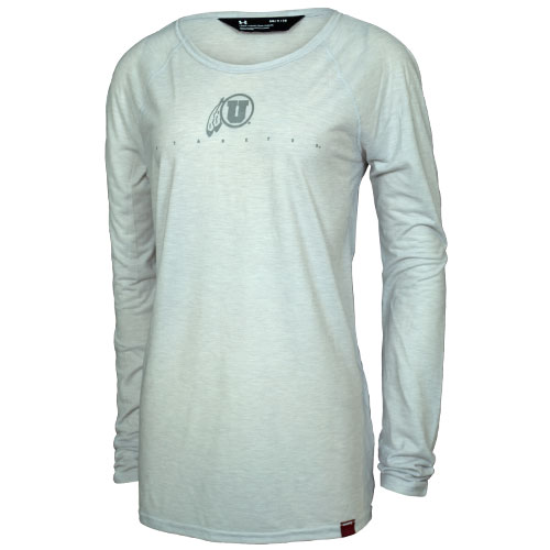Image For Under Armour Women's Grey on Grey Long Sleeve
