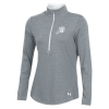 Image for Under Armour White Athletic Logo Womens Half Zip