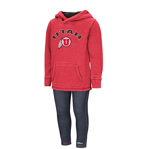 Image For Colosseum Utah Utes Girls Hoodie and Pant Set
