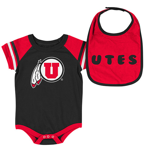 Image For Colosseum Utah Utes Bib Onesie Set