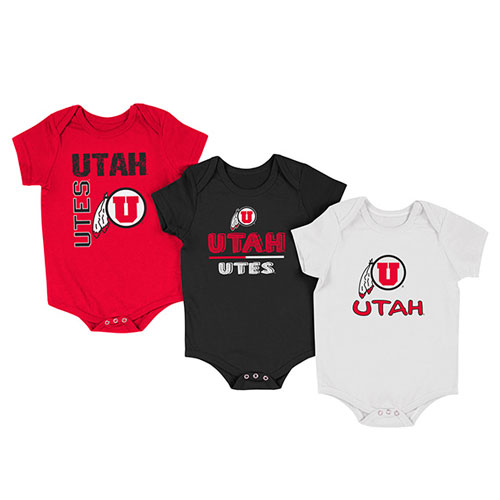Image For Colosseum Utah Utes 3-Pack Onesies
