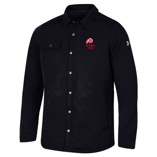 Image For Utah Utes Under Armour Puffer Shirt Jacket