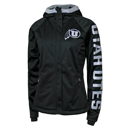 Image For Utah Utes Athletic Logo Hooded Full-Zip Jacket