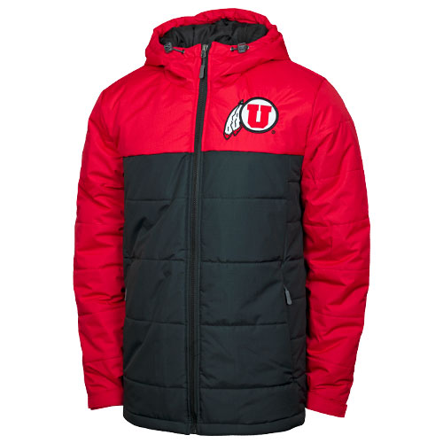 Image For Utah Utes Athletic Logo Red and Black Full-Zip Parka