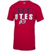 Image for Utah Utes Block Letters Athletic Logo T-Shirt