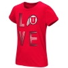 Image for Colosseum Utah Utes Love Athletic Logo Girls Tee