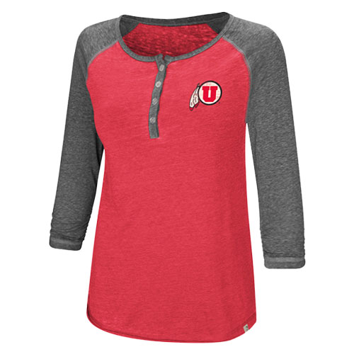 Image For Utah Utes Athletic Logo Womens Baseball Tee