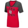 Image for Utah Utes Interlocking U Womens V-Neck Tee
