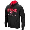 Image for Colosseum Utah Utes Athletic Logo Black Hoodie