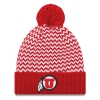 Image for Utah Utes Athletic Logo Chevron Pom Pom Beanie