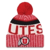 Image for Utah Utes Athletic Logo Color Block Pom Pom Beanie