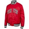 Image for Utah Utes Hillflint Red Satin Men's Bomber Jacket