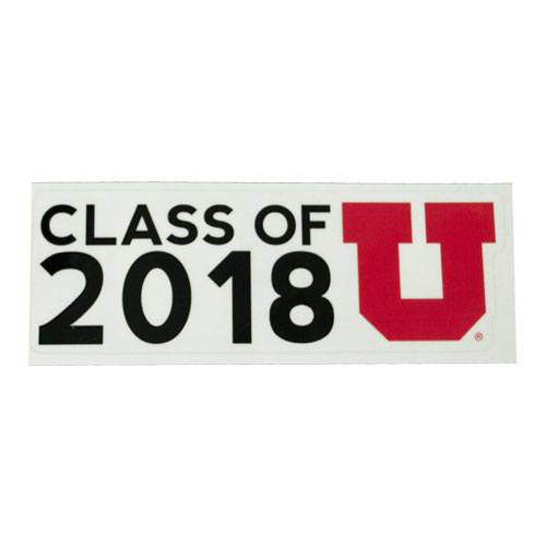 Image For Class of 2018 Block U Decal