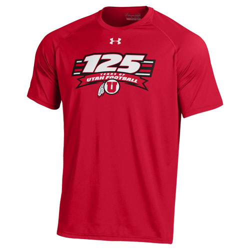 Image For Under Armour 125 Years of Utah Football Tee