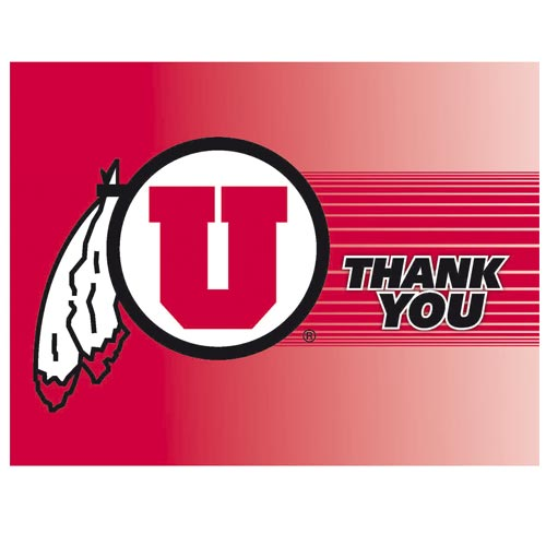 Image For Utah Utes Athletic Logo Thank You Card