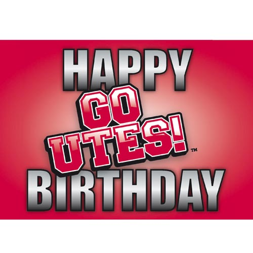 Image For GO UTES! Happy Birthday Greeting Card