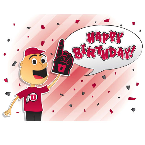 Image For Utah Utes Happy Birthday