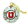 Image for Utah Utes Christmas-Light 24k Gold Plated Cloisonne Ornament