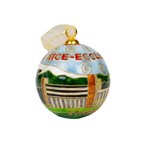 Image For Utah Utes Rice Eccles 24k Gold Plated Cloisonne Ornament