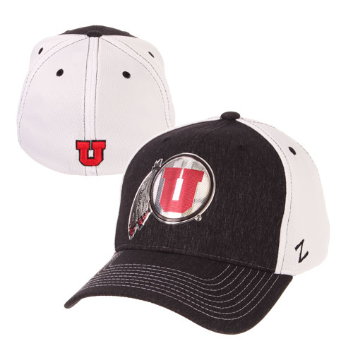 Image For Utah Utes Metal Athletic Logo Flex Fit Hat