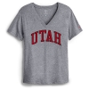 Image for Utah Utes Womens Gray V-Neck Tee
