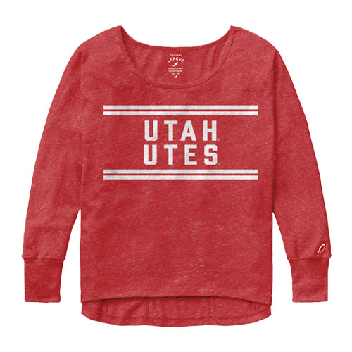 Image For League Utah Utes Womens Long Sleeve Tee