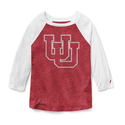 Image For League Utah Utes Interlocking U Womens Baseball Tee