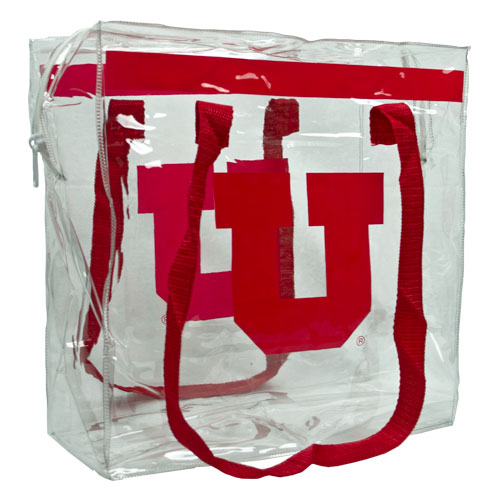 Image For Block U Clear Plastic Stadium Zipper Tote