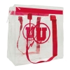 Image for Athletic Logo Clear Plastic Stadium Zipper Tote