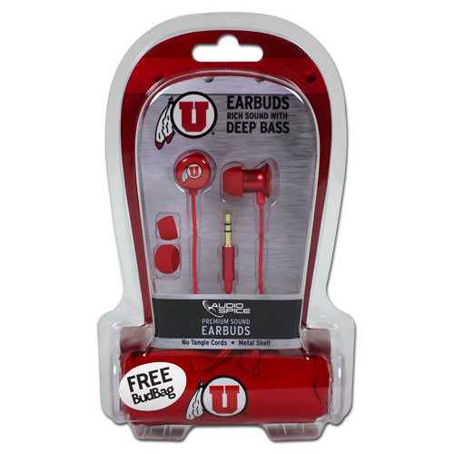 Image For Athletic Logo Earbuds & BudBug Set