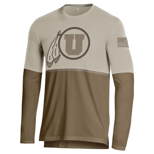 Image For Utah Utes Under Armour Military Appreciation Long Sleeve Tee