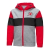 Image for Utah Utes Athletic Logo Stripe Toddler Full Zip