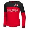 Image for Utah Utes Athletic Logo Foil Girls Long Sleeve Tee
