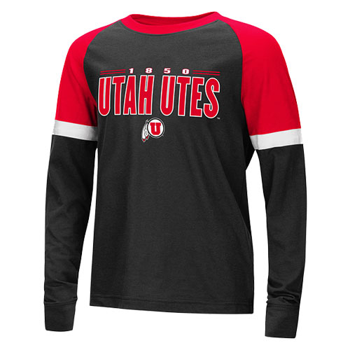 Image For Utah Utes 1850 Youth Long Sleeve Tee
