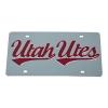 Image for Utah Utes Script Laser Tag Licence Plate