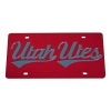 Image for Red Utah Utes Script Laser Tag Licence Plate