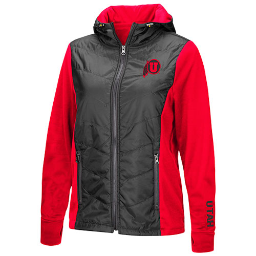 Image For Utah Utes Athletic Logo Womens Quilted Jacket